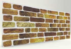 Yaldız 120 Lik Tuğla Desenli Strafor Duvar Paneli