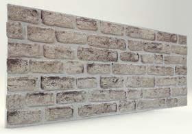 Beyaz 120 Lik Tuğla Desenli Strafor Duvar Paneli