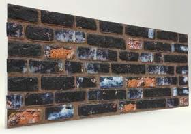 Koyu 120 Lik Tuğla Desenli Strafor Duvar Paneli