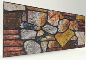 Mücevher 120'lik Kayrak Taş Desenli Strafor Duvar Paneli