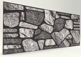 Koyu 120 Lik Kayrak Taş Desenli Strafor Duvar Paneli