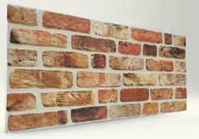 Açık Turuncu Tuğla Desenli Strafor Duvar Paneli