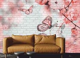Kelebek Resim Baskılı Panel