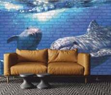 Yunuslar Resim Baskılı Panel
