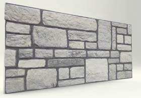 Beyaz Karma Taş Desenli Strafor Duvar Paneli