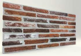 Ateş İnce Tuğla Desenli Strafor Duvar Paneli