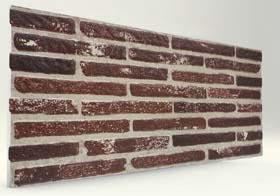 Eskitme Kırmızı İnce Tuğla Desenli Strafor Duvar Paneli
