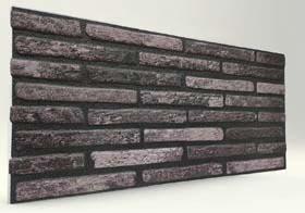 Kömür İnce Tuğla Desenli Strafor Duvar Paneli