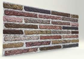 Soft Renkli İnce Tuğla Desenli Strafor Duvar Paneli