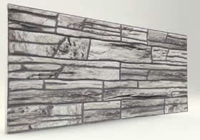 Gri Kırma Taş Desenli Strafor Duvar Paneli