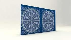 Selçuklu Çini Desenli Mavi Strafor Duvar Paneli