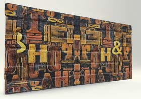3D Text Tuğla Desenli Strafor Duvar Paneli