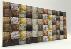 Mozaik Hasır Ahşap Desenli Strafor Duvar Paneli