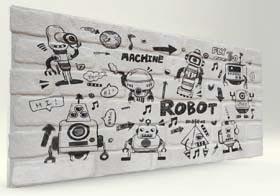 Robocop Tuğla Desenli Strafor Duvar Paneli