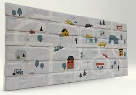 Trafik Tuğla Desenli Strafor Duvar Paneli