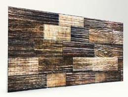 Eskitme Kütük Ahşap Desenli Strafor Duvar Paneli