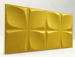 Çiçek Desenli-Gold 3D Xps Panel