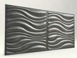 Dalga Desenli-Antrasit 3D Xps Panel