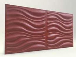Dalga Desenli-Bordo 3D Xps Panel