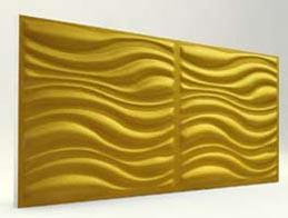 Dalga Desenli-Gold 3D Xps Panel