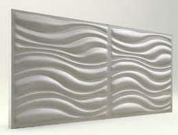 Dalga Desenli-İnci Beyaz 3D Xps Panel