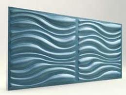 Dalga Desenli-Turkuaz 3D Xps Panel