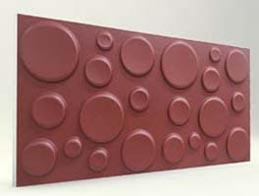 Elips Desenli-Bordo 3D Xps Panel
