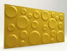 Elips Desenli-Gold 3D Xps Panel