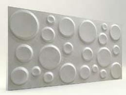 Elips Desenli-İnci Beyaz 3D Xps Panel