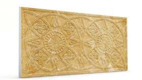 Güneş Açık Hardal Oymalı Mermer Panel