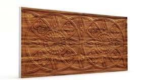 Güneş Ağaç Kabuğu Oymalı Ahşap Panel