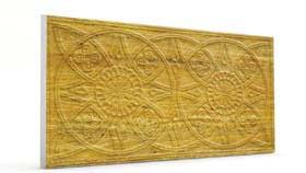 Güneş Koyu Hardal Oymalı Mermer Panel