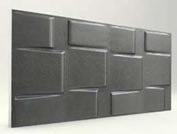 Kare Desenli-Antrasit 3D Xps Panel