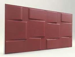 Kare Desenli-Bordo 3D Xps Panel