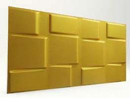 Kare Desenli-Gold 3D Xps Panel