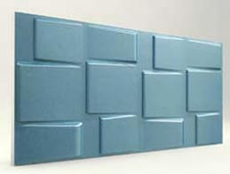 Kare Desenli-Turkuaz 3D Xps Panel