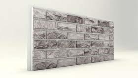 Dış Cephe Gri Tuğla Desenli Strafor Panel