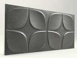 Papatya Desenli-Antrasit 3D Xps Panel