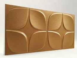 Papatya Desenli-Bakır 3D Xps Panel