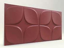 Papatya Desenli-Bordo 3D Xps Panel