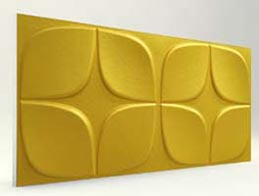 Papatya Desenli-Gold 3D Xps Panel
