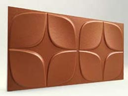 Papatya Desenli-Koyu Bakır 3D Xps Panel