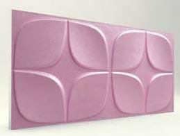 Papatya Desenli-Lila 3D Xps Panel