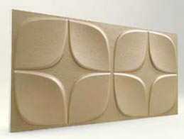 Papatya Desenli-Sütlü Kahve 3D Xps Panel
