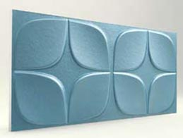 Papatya Desenli-Turkuaz 3D Xps Panel
