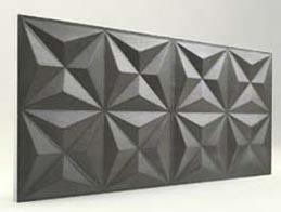 Piramit Desenli-Antrasit 3D Xps Panel