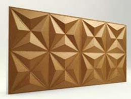 Piramit Desenli-Bakır 3D Xps Panel