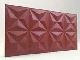 Piramit Desenli-Bordo 3D Xps Panel