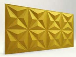 Piramit Desenli-Gold 3D Xps Panel