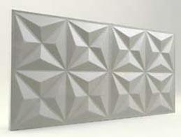 Piramit Desenli-İnci Beyaz 3D Xps Panel